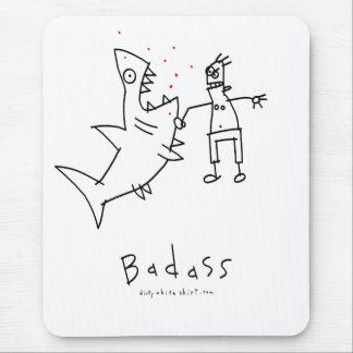 Badass Shark Punch Mouse Pad