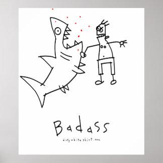 Badass Shark Punch Poster