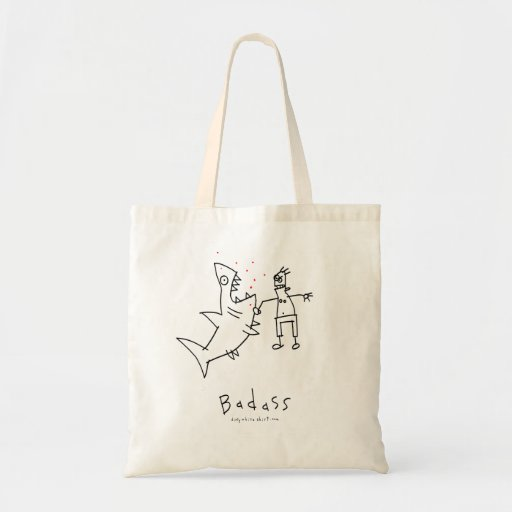 Badass Shark Punch Tote Bags