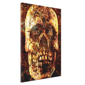 Badass Skull Wrapped Canvas Canvas Print