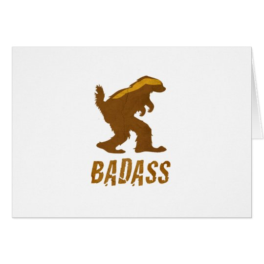 Badass Squatchy Badger Card