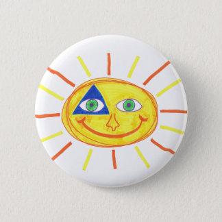 Badass Sun Pinback Button