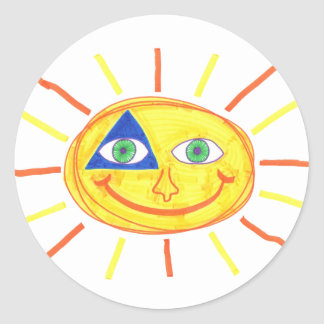 Badass Sun Stickers