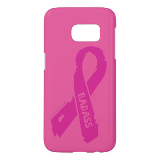 Badass/ torn ribbon...Breast Cancer Samsung Galaxy S7 Case