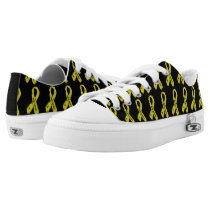 Badass/ torn ribbon...Endometriosis Low-Top Sneakers