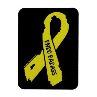 Badass/ torn ribbon...Endometriosis Magnet