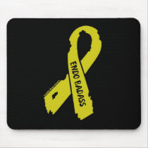 Badass/ torn ribbon...Endometriosis Mouse Pad