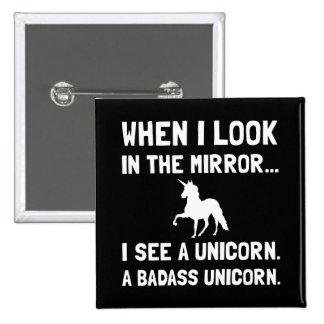 Badass Unicorn Button