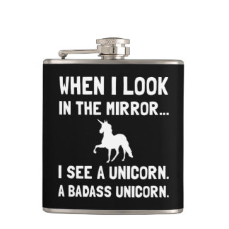 Badass Unicorn Flask