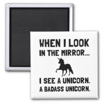 Badass Unicorn Magnet