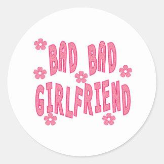 BadBadGirlfriend Round Sticker