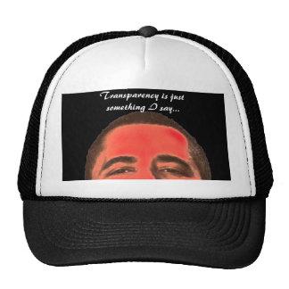 badchangeobama, Transparency is just something ... Hats