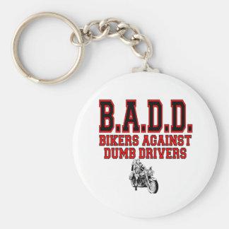badd basic round button keychain