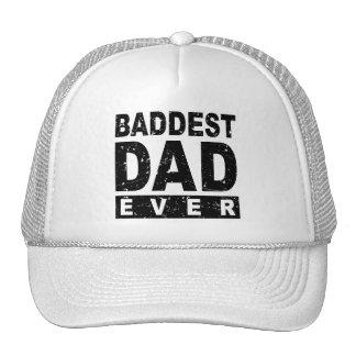 Baddest Dad Ever - Black Trucker Hat