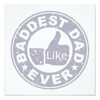 Baddest Dad Ever - Grey Card