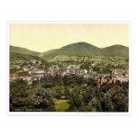 Baden-Baden, Baden, Alemania Photochrom raro Tarjeta Postal