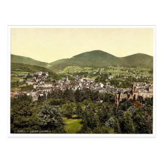 Baden-Baden, Baden, Germany rare Photochrom Postcard