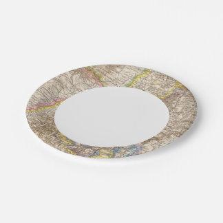 Baden Germany Atlas Map Paper Plate