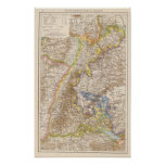 Baden Germany Atlas Map Poster