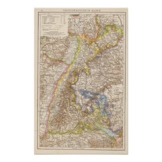 Baden Germany Atlas Map Poster