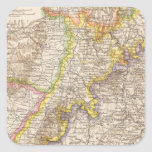 Baden Germany Atlas Map Square Stickers