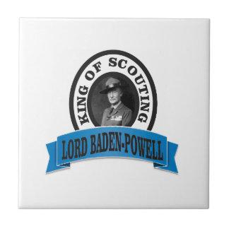 baden powell scouting leader ceramic tile