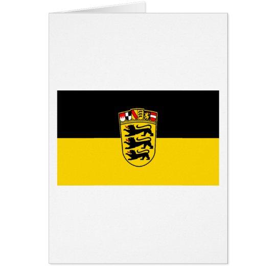 Baden-Wuerttemberg Flag Card