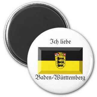 Baden-Wuerttemberg Flag Gem 2 Inch Round Magnet