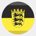Baden-Wuerttemberg Flag Gem Sticker