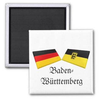 Baden-Wuerttemberg, Germany Flag Tiles 2 Inch Square Magnet