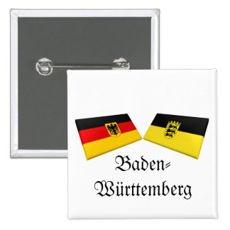 Baden-Wuerttemberg, Germany Flag Tiles Pinback Buttons