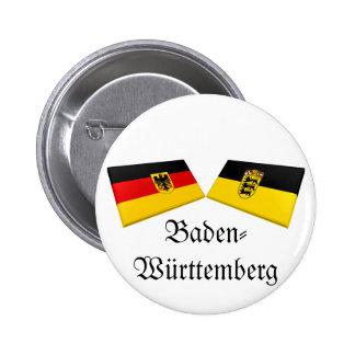 Baden-Wuerttemberg, Germany Flag Tiles Button