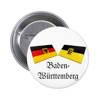Baden-Wuerttemberg, Germany Flag Tiles Pinback Button