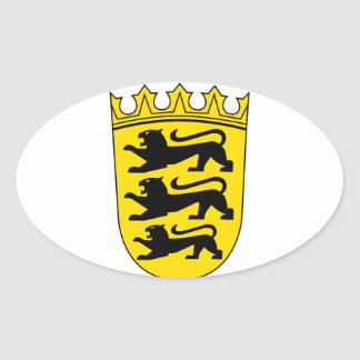 Baden-Wuerttemberg small Landeswappen Oval Sticker