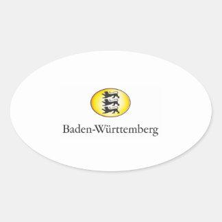 Baden-Wuerttemberg Wappenzeichen Oval Sticker