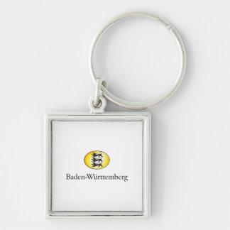 Baden-Wurtemberg Wappenzeichen Llavero Cuadrado Plateado