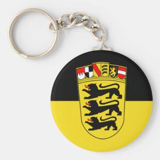Baden-Württemberg (estado, mayores brazos), Aleman Llavero Redondo Tipo Pin