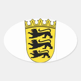 Baden-Württemberg (Germany) Coat of Arms Oval Sticker