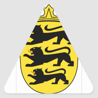 Baden-Württemberg (Germany) Coat of Arms Triangle Sticker