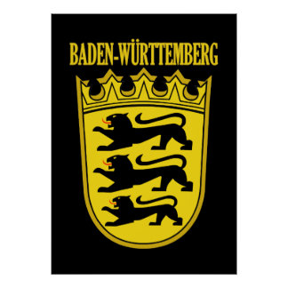 Baden-Wurttemberg Lesser Arms Print