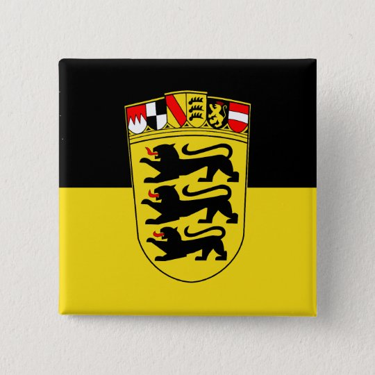 Baden-Württemberg(State, Greater Arms), Germany Button