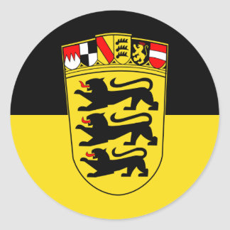 Baden-Württemberg(State, Greater Arms), Germany Classic Round Sticker