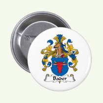 Bader Family Crest Button