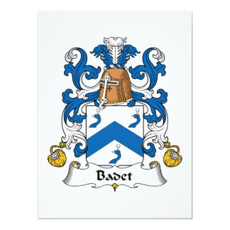 Badet Family Crest 6.5x8.75 Paper Invitation Card