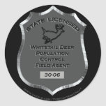 Badge # 30-06 Whitetail Deer Field Agent,  Sticker