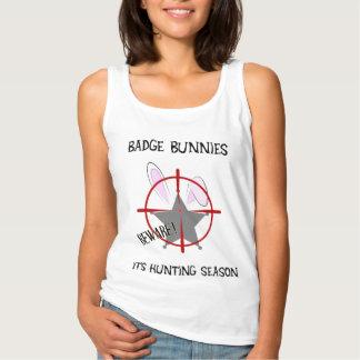 Badge Bunnies Beware 5 Point Star Badge Basic Tank Top