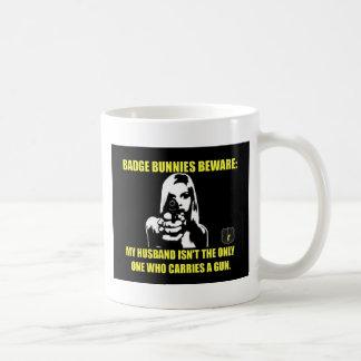 Badge Bunnies Beware Coffee Mug