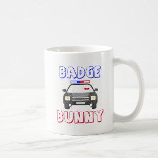 Badge Bunny Design for People Who Love Cops Coffee Mug