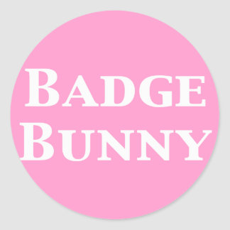 Badge Bunny Gifts Classic Round Sticker