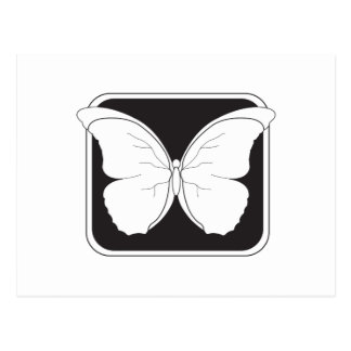 badge-butterfly postcard